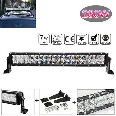 22inch 5D Curved 280W OSRAM LED Bar Combo offroad Driving Light Lamp Car SUV ATV