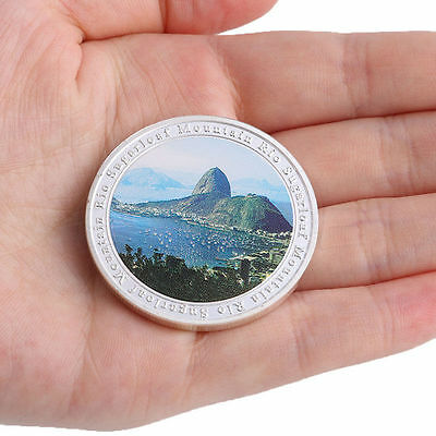2016 Brazil Rio Olympic Games Sugarloaf Mountain Silver Plate Commemorative Coin