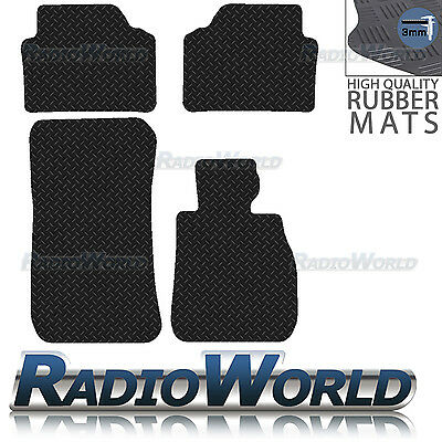 BMW 3 Series E90 E91 Black Floor Rubber Fully Tailored Car Mat 3mm 4pc Set