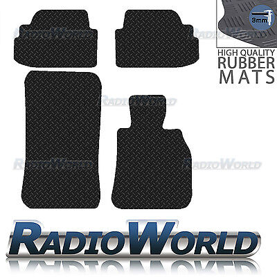 BMW 1 Series E82 Coupe 2007-2013 Black Floor Rubber Tailored Car Mat 3mm 4pc Set