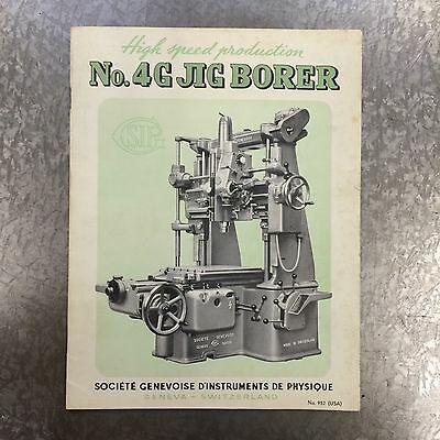 SIP No. 4G Jig Borer Sales Catalog Brochure No 952 - 1940's Era - Very Good Cond