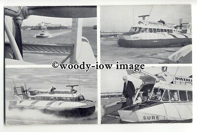 f0875 - Hoverlloyd SRN 6 Hovercraft Swift & Sure - postcard issued by Hoverlloyd