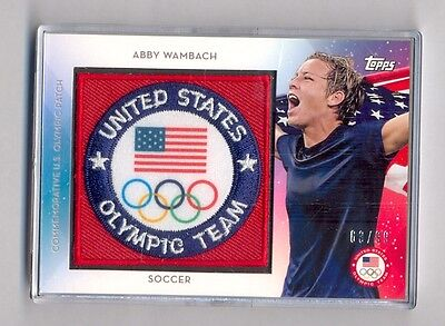 2016 Topps Olympics Abby Wambach 63/99 Team USA Patch Relic USAP-AW Soccer