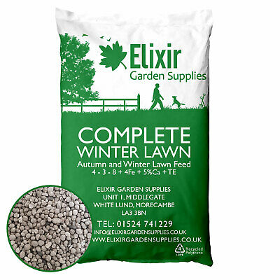 Complete Winter Lawn Autumn and Winter Lawn Feed and Moss Treatment 4-3-8+4Fe
