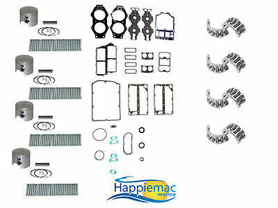 johnson evinrude 120 130 140 hp v4 powerhead rebuild kit gasket yamaha 115 130 hp v4 powerhead rebuild kit piston gasket 84 92 21 5mm