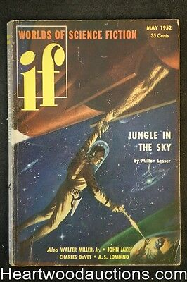 If (Worlds of Science Fiction) May 1952 Evan Hunter, Marlowe, Jakes