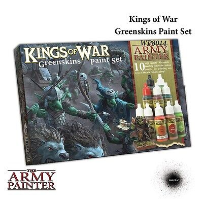 Mantic Games Kings of War The Army Painter, Greenskins Paint Set Free UK P&P