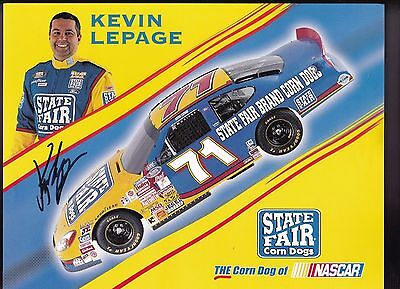 Kevin Lepage State Fair Corn Dogs 2011 NASCAR Racing Autographed Photo Card