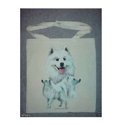 3 Samoyed Dogs Design Printed On A Tote Shopping Bag