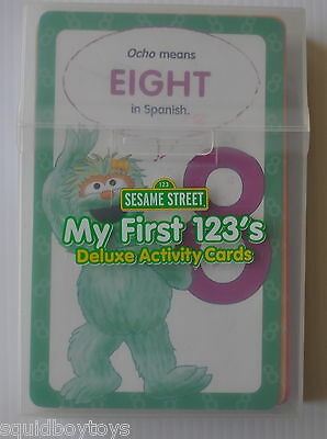 SESAME STREET My First 123's DELUXE ACTIVITY CARDS Number Flash Cards