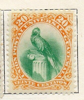 Guatemala 1881 Early Issue Fine Mint Hinged 20c. 087547
