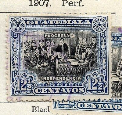 Guatemala 1907 Early Issue Fine Used 12.5c. 087578