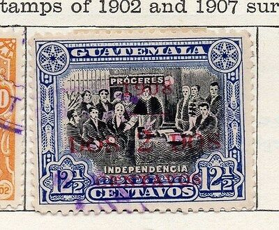 Guatemala 1908 Early Issue Fine Used 2c. Surcharged 087580