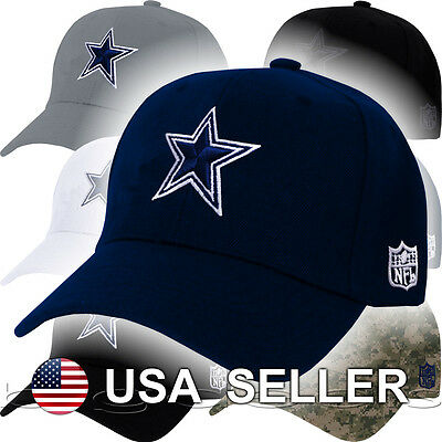 Dallas Cowboys Cap NFL Logo DAL Hat Embroidered Football On Field Game Home Men