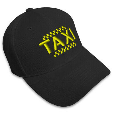 TAXI DRIVER CAB Embroidery Embroidered Adjustable Hat Baseball Cap