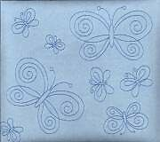 "Blue Suede Butterfly 8X8"" Scrapbook Album - Crafty Koala"