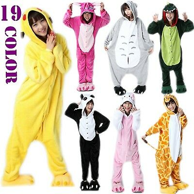 Hot Unisex Pajamas Kigurumi Cosplay Costume Animal Onesie Sleepwear Jumpsuit