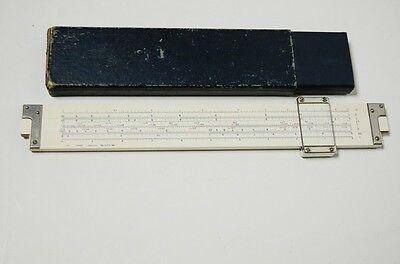 Vintage Sun Hemmi 251 Bamboo Slide Rule Japan