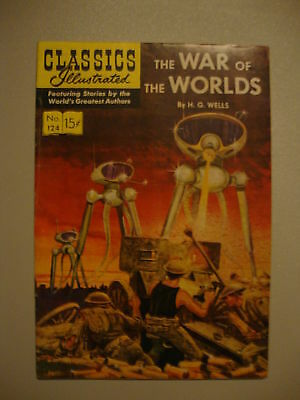 Classic Illustrated #124 G/VG 1st PRT War Of The Worlds