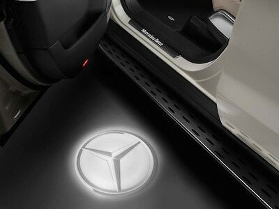 original Mercedes-Benz Logo Projector in Wing mirror cover Stars LED