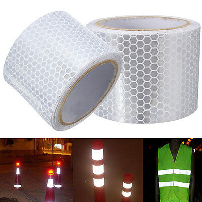 Car White Reflective Safety Warning Conspicuity Tape Film Sticker 5CM*300cm