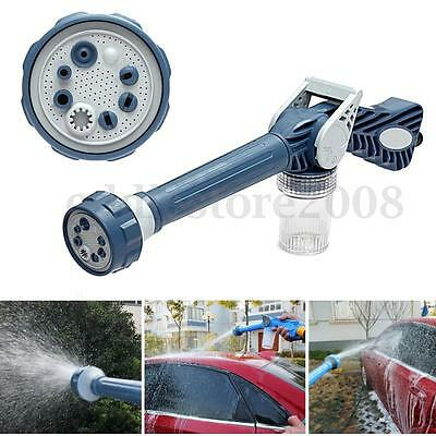Jet Water & Soap Dispenser Cannon 8 in 1 Nozzle Multi Function Garden Spray Tool