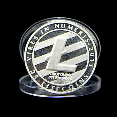 25 Litecoin Coins Vires in Numeris Commemorative Coin Collection Silver Plated