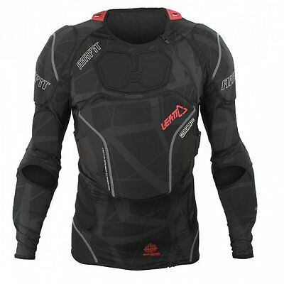 LEATT 3DF Airfit MX Enduro Motocross Off Road Body Armour Protector - Black