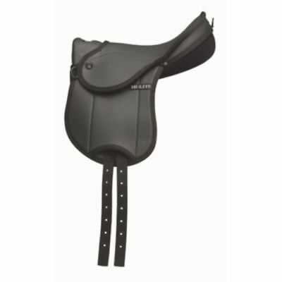 """SHIRES HI-LITE BAMBINO CHILDRENS FIRST SADDLE with hand grip black 12"""" / 14"""""""