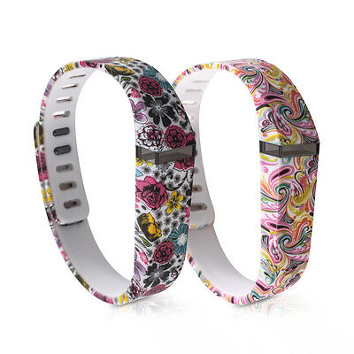 kwmobile 2X SILICONE SPARE BRACELET FOR FITBIT FLEX FLOWERS DOTS MULTICOLOR DARK