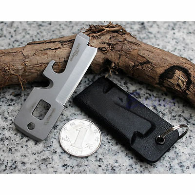 5in1 Multi Tool Stainless EDC Pocket Survival Bottle Opener Keychain Screwdriver