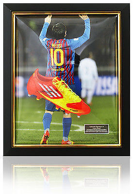 Lionel Messi Signed Boot Nike F10 Dome Framed
