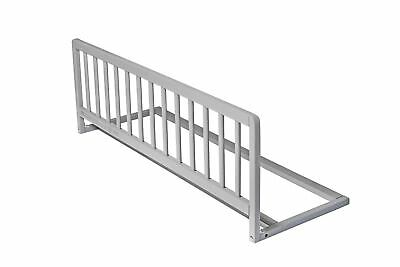 Safetots Childrens Wooden Bed Rail Toddler Bed Guard Safety Rail Unisex Grey