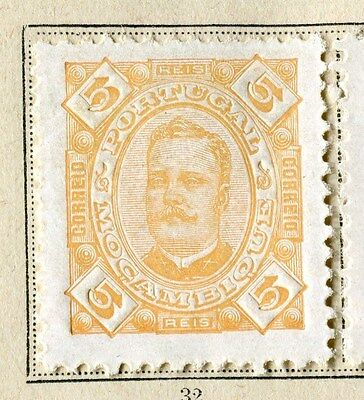 PORTUGUESE COLONIES;  MOZAMBIQUE 1894 classic Carlos issue Mint hinged 5r.