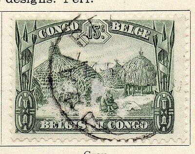 Belgian Congo 1932 Early Issue Fine Used 15c. 087845
