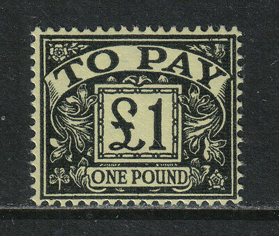 Great Britain 1959-63  £1 black on yellow Postage Due (J67) MH