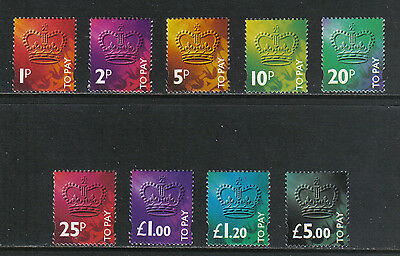 Great Britain 1994 Postage Dues (J104-12) MNH