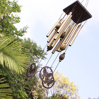 Wind Chime Living Windchime 12 Metal Tubes Butterfly Garden Home Decor Best Gift