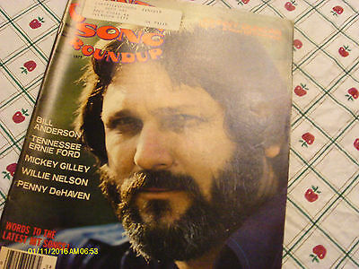 Johnny Duncan Covers Country Song Roundup Magazine August 1977 Ernie Ford