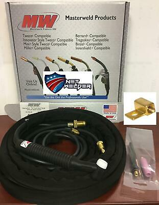 Masterweld 18F TIG Torch Outfit 25' TIGMASTER 350A Water Cooled -  MADE IN USA