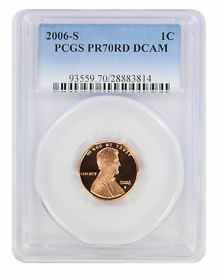 2006-S Lincoln Cent PR70RD DCAM PCGS Proof 70 Red Deep Cameo