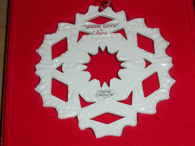 Longaberger Collectors Club Snowflake 2002 Snow Days Claire Ornament