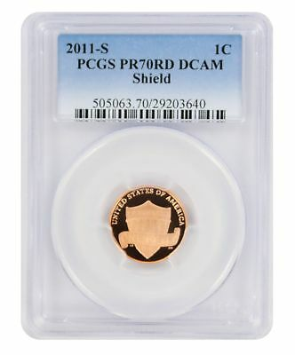 2011-S Lincoln Cent PR70RD DCAM PCGS Proof 70 Red Deep Cameo