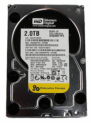"WD Western Digital black WD2003FYPS 2TB SATA Festplatte 3,5"" NAS Server 7/24 gb"