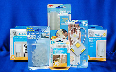 Baby SAFETY 1st Pack Outlet Cover Adapter Plug Cover Medi Cups & more Set # 14