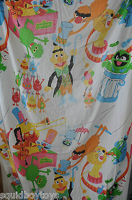 SESAME STREET Characters & Monsters CIRCUS BED SHEET Fitted & Flat 1980s Muppets