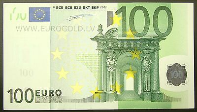 European Union T Ireland 100 Euro 2002 note Duisenberg Sign P-5t XF