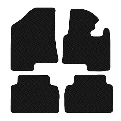 Kia Sportage 2010 Onwards Black Floor Rubber Fully Tailored Car Mats 3mm 4pc Set