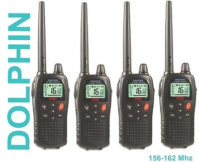 4 PCS INTEK DOLPHIN Marine mr 8060 VHF FM 5 W RADIO TWO-WAY 156-162 mhz