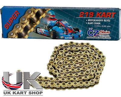 CZ 110 Kettenglied 219 Pitch Gold Rennsport-kette UK KART STORE